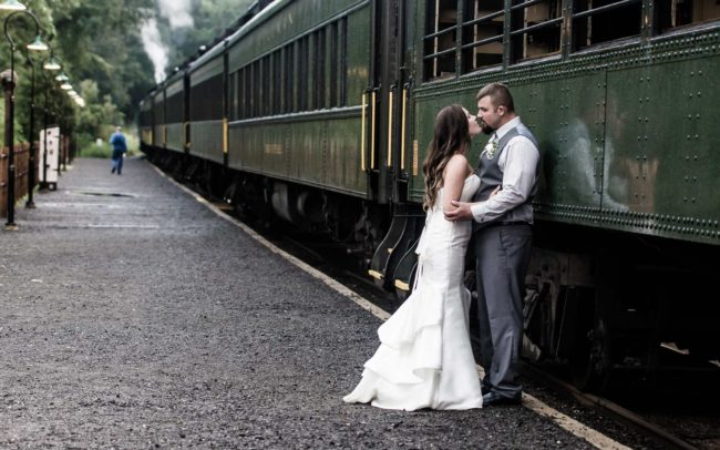 Essex steamtrain wedding at Lace factory in Essex CT