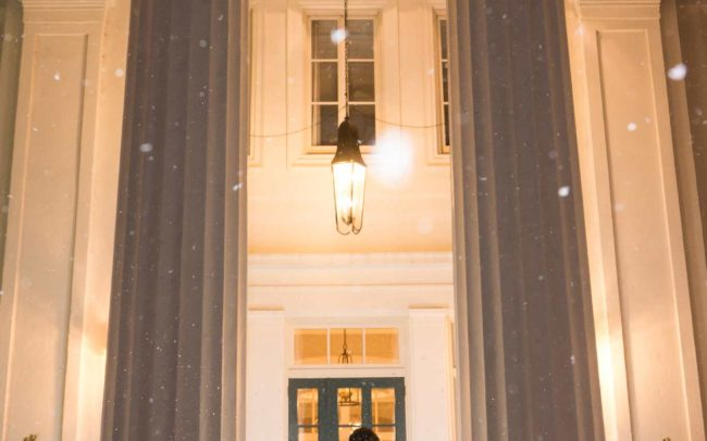 Winter wedding at The Wadsworth Mansion in Middletown CT