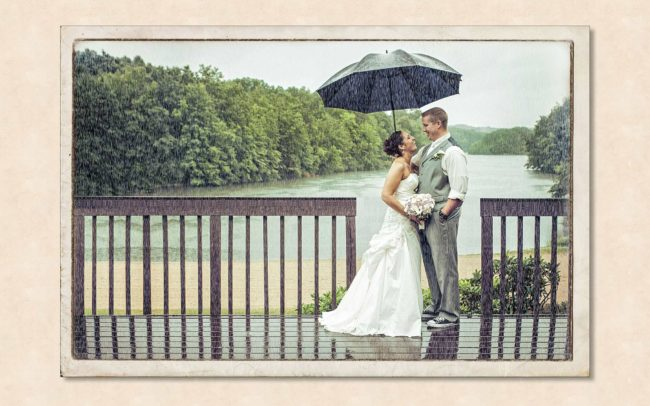 Rainy wedding at The Pavillion on Crystal Lake in Manchester, CT